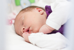 Cute newborn baby sleeping
