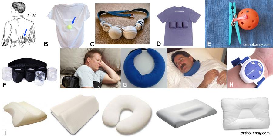 DIfférents moyens pour aider à ne pas dormir sur le dos et aider le dormeur à moins ronfler et mieux respirer pendant son sommeil.