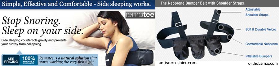 Gilet avec balles de tennis pour aider dans la thérapie positionnelle du ronflement et de l'apnée du sommeil.